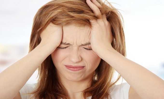 Часто терапия медикаментом сопровождается головной болью