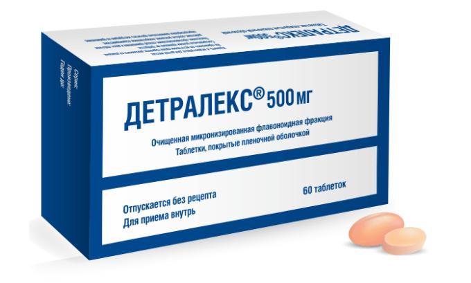 Лекарственное средство можно заменить таблетками Детралекс
