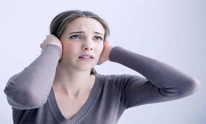 Побочные действия от препарата проявляются в виде гула в ушах