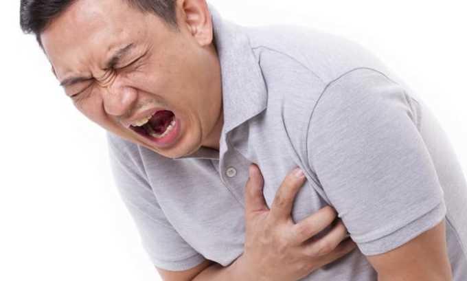 Запрещен прием, если у больного наблюдается острая форма инфаркта миокарда