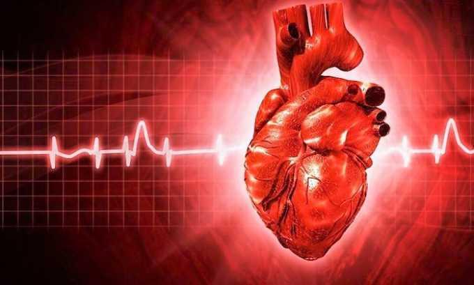 При нарушении работы сердца принимать Трипсин запрещено