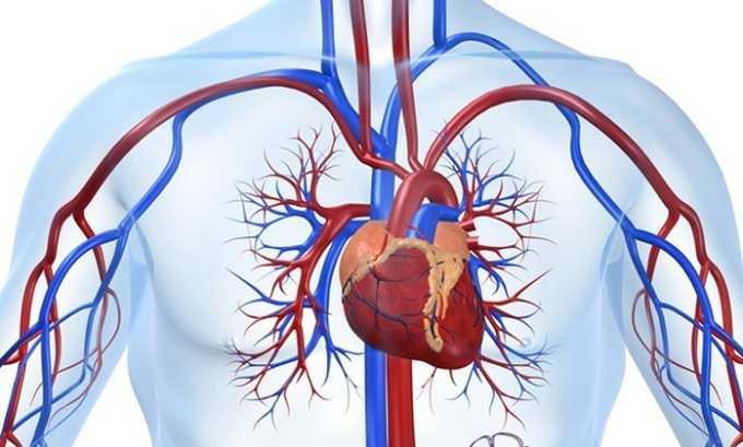 Также нельзя применять препарат при сердечно-сосудистых заболеваниях