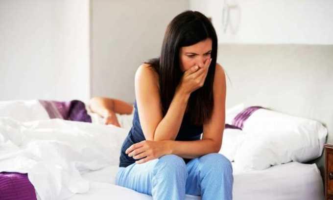 В случае неправильно подобранной дозы или ее самостоятельного увеличения наблюдается тошнота