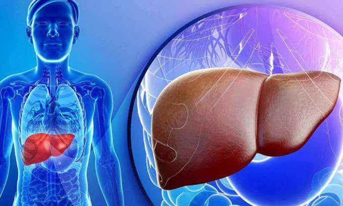 При заболевании печени в активной стадии опасно принимать препарат