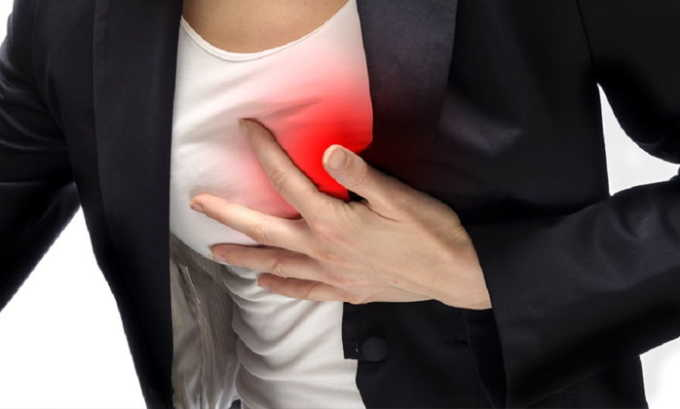 При длительном приеме препарата возможно появление побочного эффекта как боль в груди