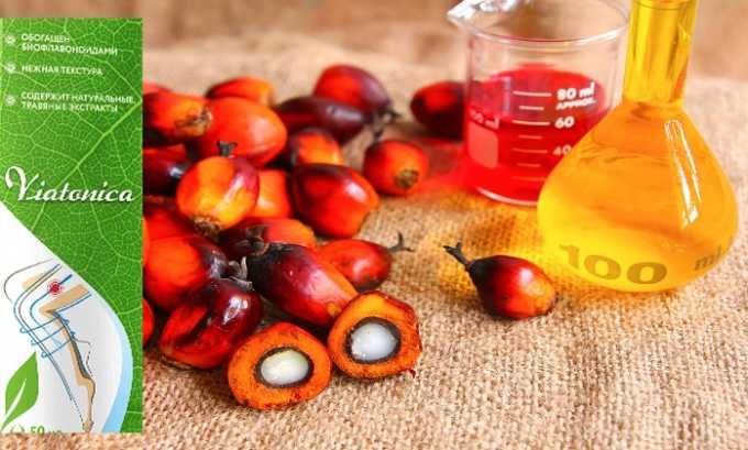 Препарат Виатоника содержит масло красной пальмы
