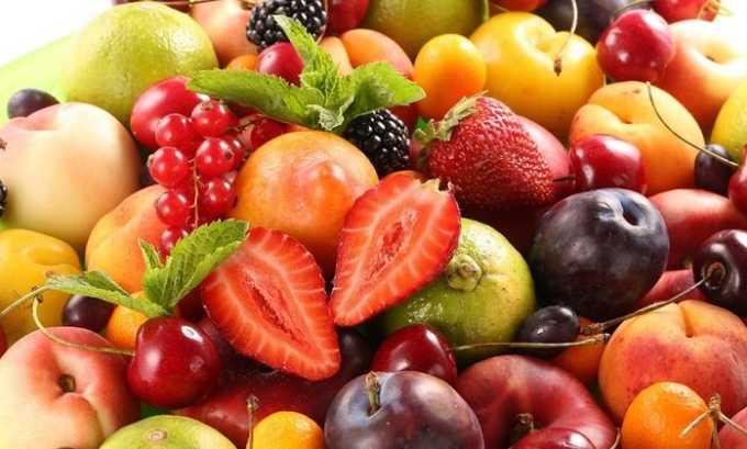 Особенно полезны при варикозе свежие фрукты и ягоды кислых сортов
