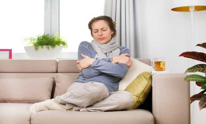 Иногда препарат может вызвать жар и озноб