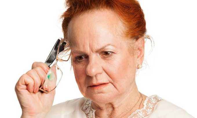 Препарат рекомендовано принимать при старческой деменции