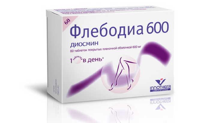 Флебодиа - самое лучшее лекарство от варикоза из группы венотоников, содержит диосмин. С его помощью можно вылечить лимфовенозную недостаточность, восстановить микроциркуляцию, устранить варикозное расширение вен