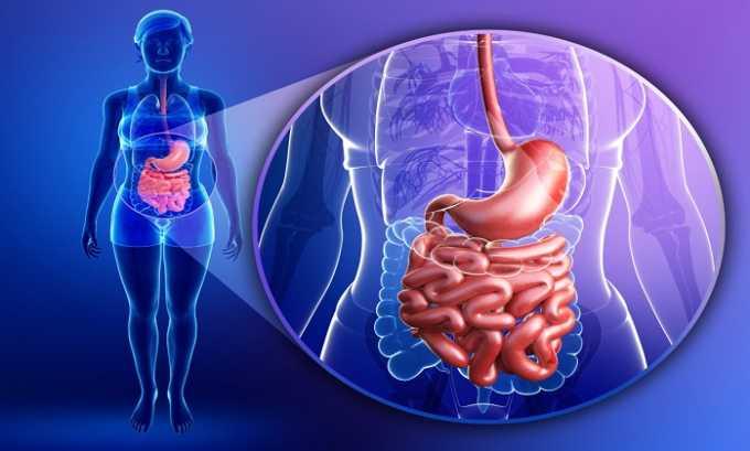 Побочное действие препарата может выражаться в поражении пищеварительной системы