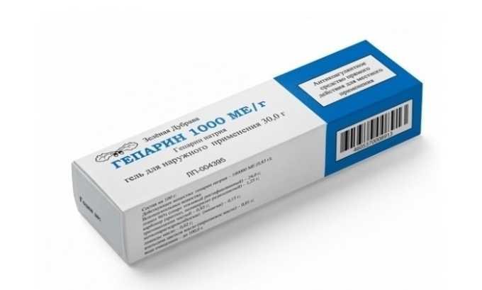 Гепарина 1000 оказывает умеренное противовоспалительное, регенерирующее, анестезирующее действие