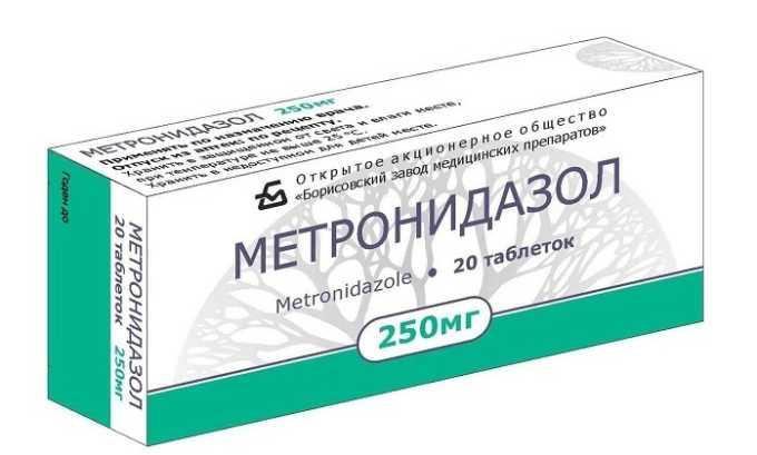 Таблетки Метронидазол выпускаются в виде плоской цилиндрической формы и имеют желтовато-зеленый оттенок