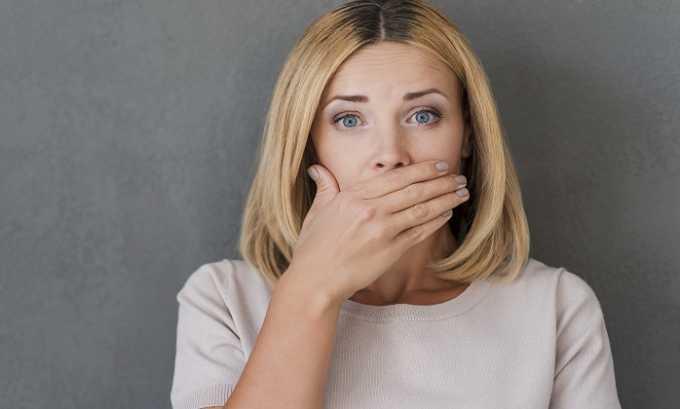 Средство используется при воспалительных процессах в полости рта
