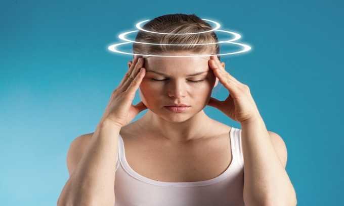 Препарат может стать причиной головных болей и головокружения