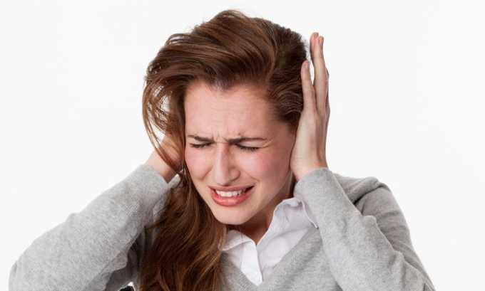 Лекарство показано при нарушениях нейросенсорики, проявляющихся шумом в ушах