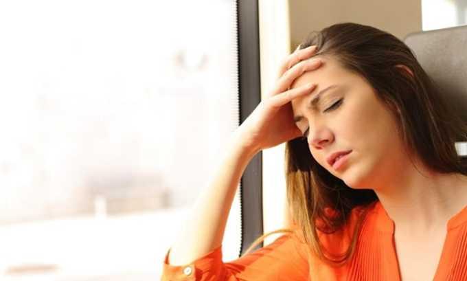 При передозировке препаратом появляется головокружение