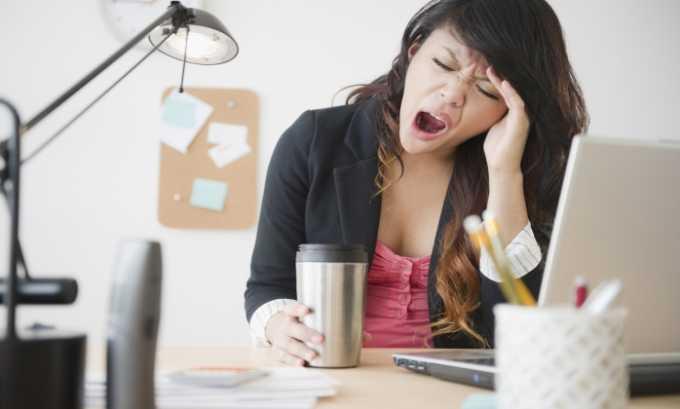 При передозировке препаратом может возникнуть сонливое состояние