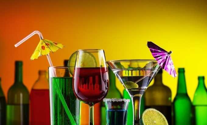 Воспрещается комбинировать препарат с пивом, вином и прочими напитками, в которых присутствует алкоголь
