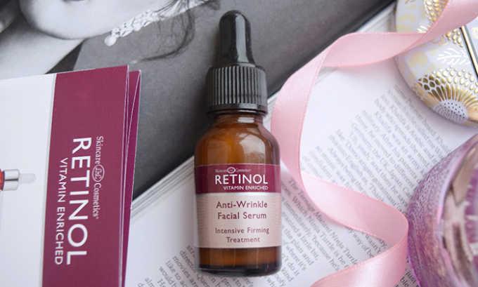 Сыворотки с ретинолом лучше применять перед сном, т. к. данное средство увеличивает чувствительность кожи к солнечному свету