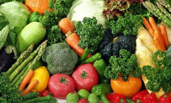 Овощи полезно употреблять в качестве главного компонента диеты в разгрузочные дни при варикозном расширении вен