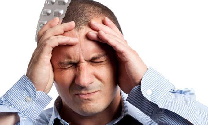 После приема таблеток нередко появляется головная боль, которая является признаком побочного действия