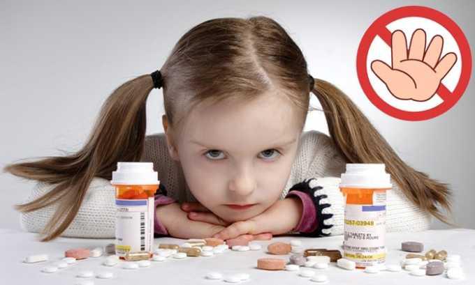 Лекарственное средство запрещено к приему пациентам младше 10 лет