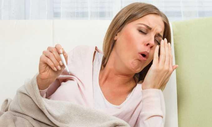 Кашель также является признаком побочного эффекта