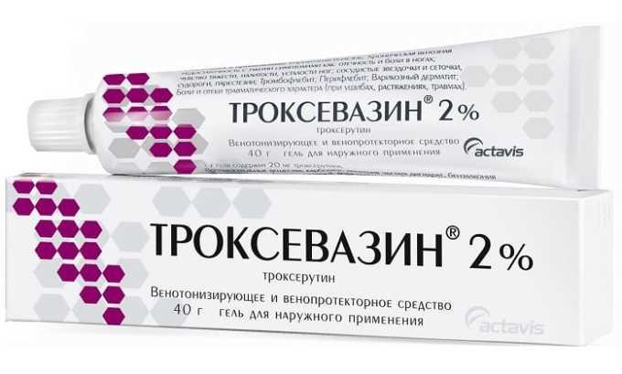 Лекарственное средство можно заменить гелем Троксевазин