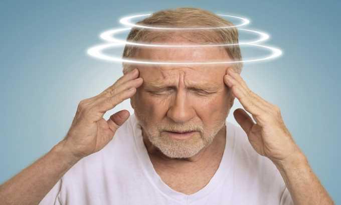Головокружение считается побочным действием препарата Курантил