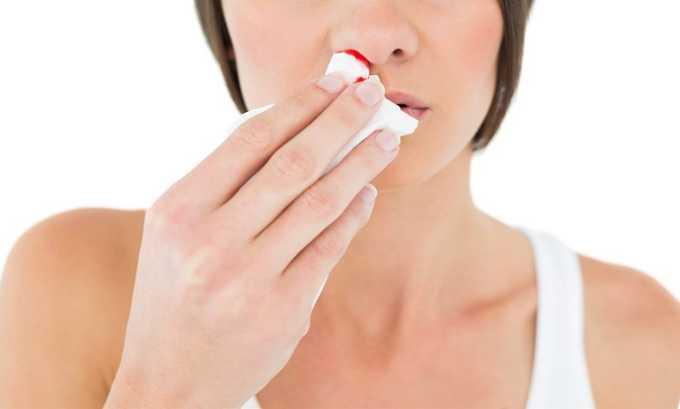 Во время приема препарата могут наблюдаться носовые кровотечения