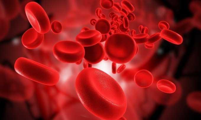 Препарат имеет свойство предотвращать агрегацию (слипание) кровяных клеток