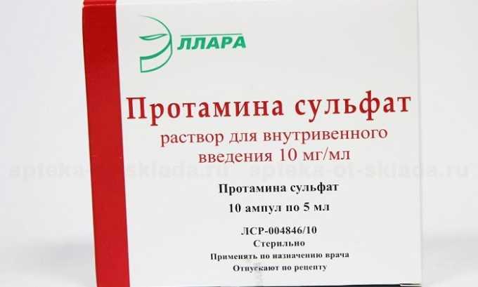 Лечение при передозировке подразумевает введение протамина сульфата