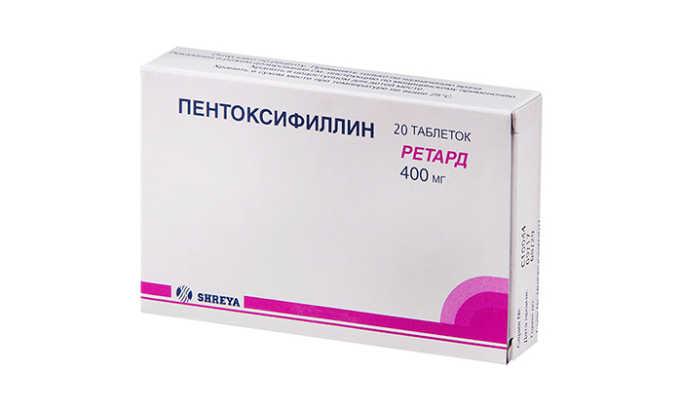 Пентоксифиллин усиливает терапевтическое влияние пероральных гипогликемических средств, инсулина, гипотензивных лекарств