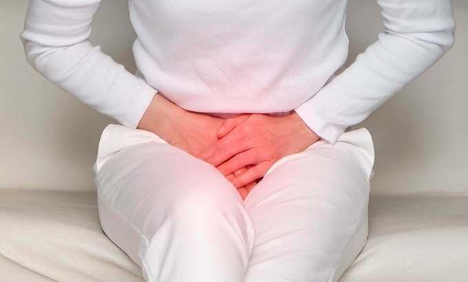 Мертенил может спровоцировать дискомфорт внизу живота