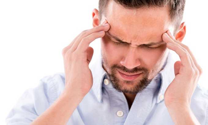 Со стороны ЦНС побочная симптоматика может выражаться через дискомфорт в височной области