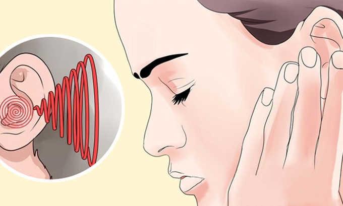 Могут быть расстройства со стороны органов чувств (снижение слуха, звон в ушах)