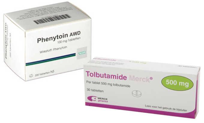 Врач может назначить Фенитоин или Толбутамид больному, принимающему медикамент