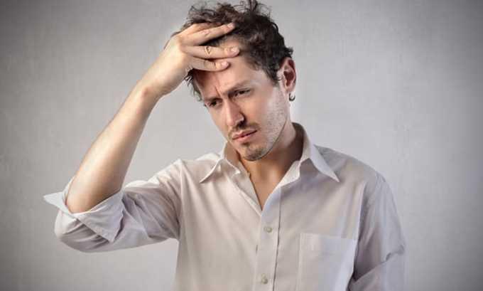 Препарат в некоторых случаях провоцирует головокружение