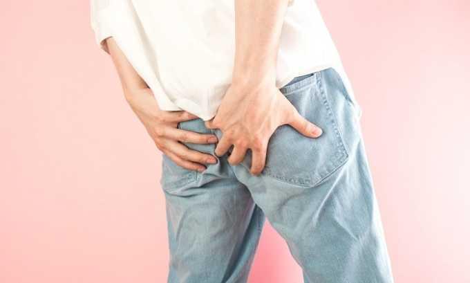 Медикамент может быть назначен пациентам с геморроем. Он эффективно справляется с болевым синдромом, зудом