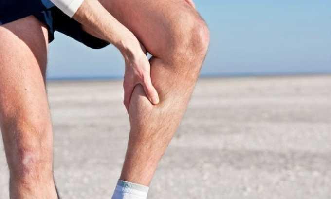 Лекарство назначают для местной терапии при тяжести и боли в нижних конечностях
