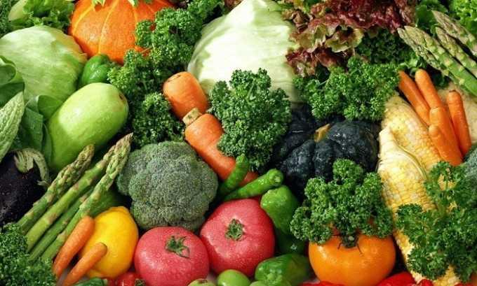 Правильное питание при варикозе подразумевает большое количество свежих овощей в рационе
