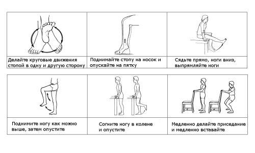 В любое свободное время на рабочем месте можно выполнять по 10 -15 повторов упражнений для ног