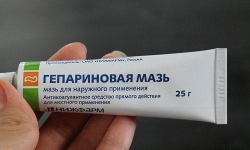 Использование Гепариновой мази помогает очень быстро уменьшить сосудистые звездочки и устранить боль при варикозе