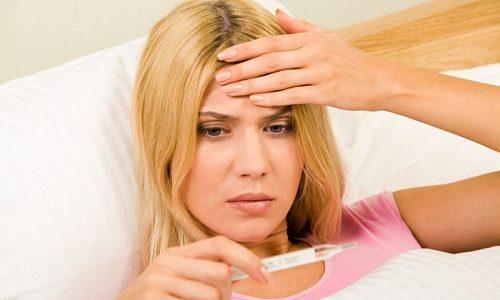 В результате приема лекарства у больного может подняться температура тела