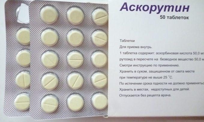 Аскорутин восстанавливает дефицит витамина С и Р. Оба компонента укрепляют сосудистую стенку, уменьшают проницаемость и ломкость капилляров