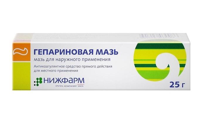Отличный эффект дает мазь на основе гепарина натрия. Средство оказывает противосвертывающее и противовоспалительное действие