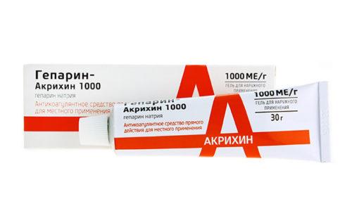 Гепарин Акрихин лечит варикоз вен и геморрой