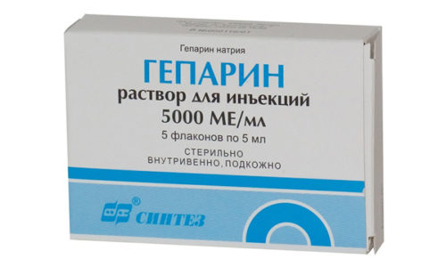 Гепарин натрия предназначен для устранения проблем с венами