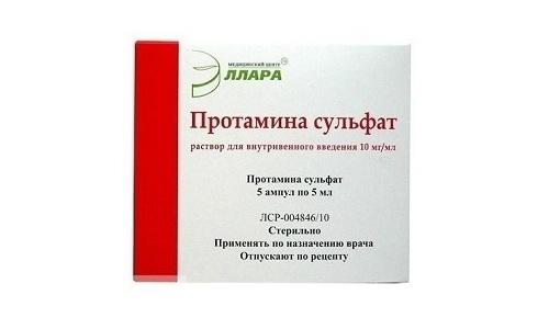 Нейтрализует действие гепарина вещество протамина сульфат
